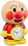 リズム時計 それいけアンパンマン 音声 ・ アクション目覚まし キャラクター 時計 茶色 4SE552-M06