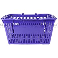 Plastic Shopping Baskets Basket Hand Business Supermarket Store Shop Bulk