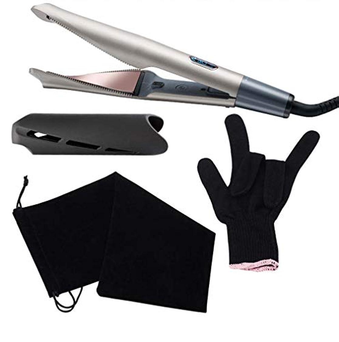 避難騙す知り合いプロのヘアストレイテナーカーリング1トルマリンセラミックツイストフラットアイアンでアイアン2 LCDデジタルディスプレイ&オートシャットオフを持つすべての髪のタイプのために