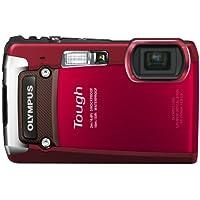 OLYMPUS デジタルカメラ TG-820 レッド 10m防水 2m耐落下衝撃 -10℃耐低温 耐荷重100kg 1200万画素 裏面照射型CMOS 光学5倍ズーム DUAL IS ハイビジョンムービー 3.0型LCD 広角28mm 3Dフォト機能 TG-820 RED