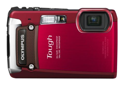 OLYMPUS オリンパス Tough TG-820  レッド デジタルカメラ 水深10m防水 マイナス10℃で撮影能 光学5ズーム