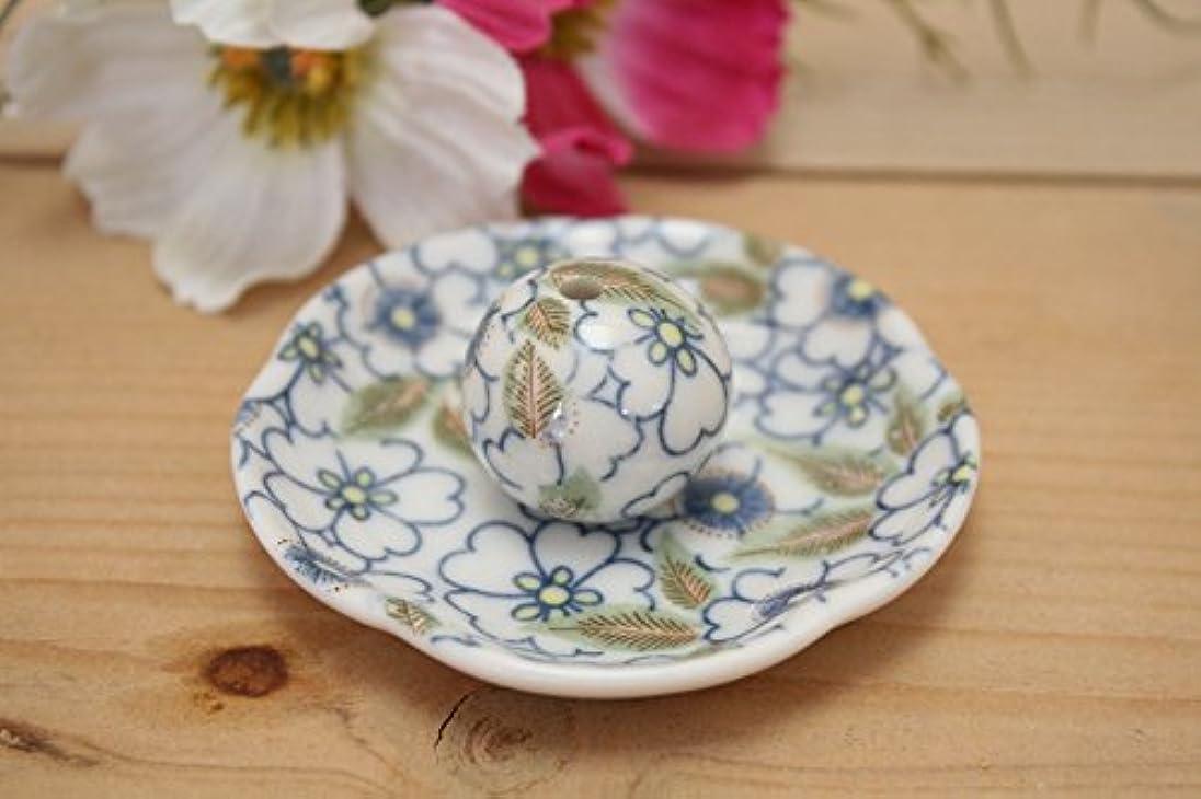 一見居間窒素藍華柳 花形香皿 お香立て お香たて 日本製 ACSWEBSHOPオリジナル