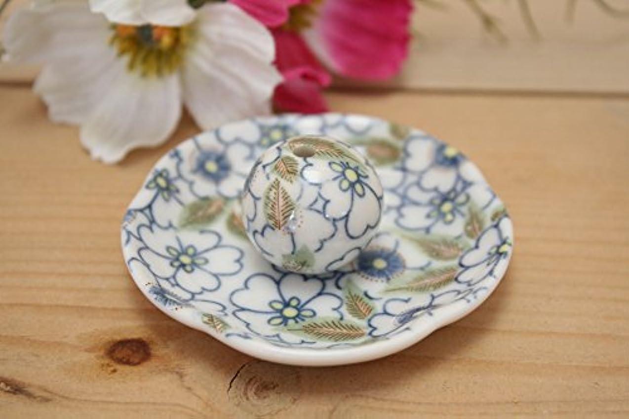 正午洗う神話藍華柳 花形香皿 お香立て お香たて 日本製 ACSWEBSHOPオリジナル