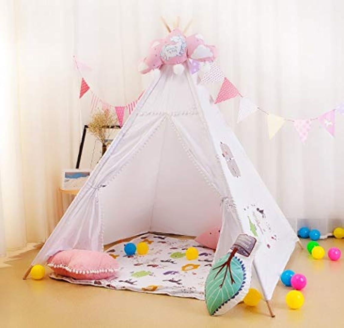コントラスト麺残りFeelyer 屋内の女の子のゲームのおもちゃのテント子供のテント赤ちゃんのおもちゃの家超軽量防水防風防蚊 顧客に愛されて
