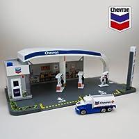 シェブロン 組み立て式ガソリンスタンド DARON 1/64 CHEVRON GAS STATION PLAY SET プレイセット/ジオラマ/1:64/