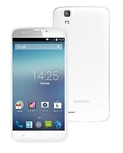 geanee SIMフリー スマートフォン イオンスマホ FXC-5A (Android4.4 / 5inch / 500万画素 / デュアル SIM/通常 SIM/micro SIM /4GB) FXC5A (本体, 白)