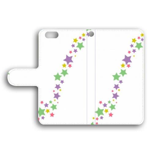 ARROWS /F-M01 /M /手帳型 スター/星 手帳ケース 手帳カバー スマホ ケース スマホ カバー スマホカバー ブックタイプ PUレザー q1132-v0010-lec_am(3-バイオレット)