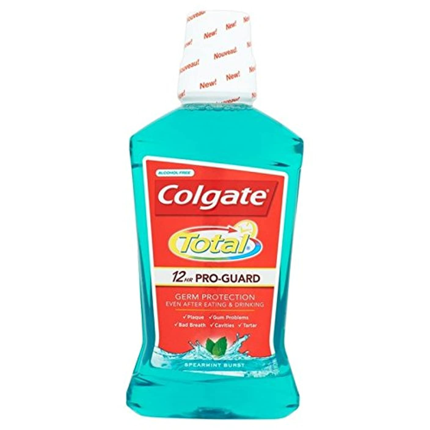 Colgate Total Advanced Green Mouthwash 500ml 500ml (Pack of 6) - コルゲートトータル先進的な緑色のマウスウォッシュ500ミリリットル500ミリリットル x6...