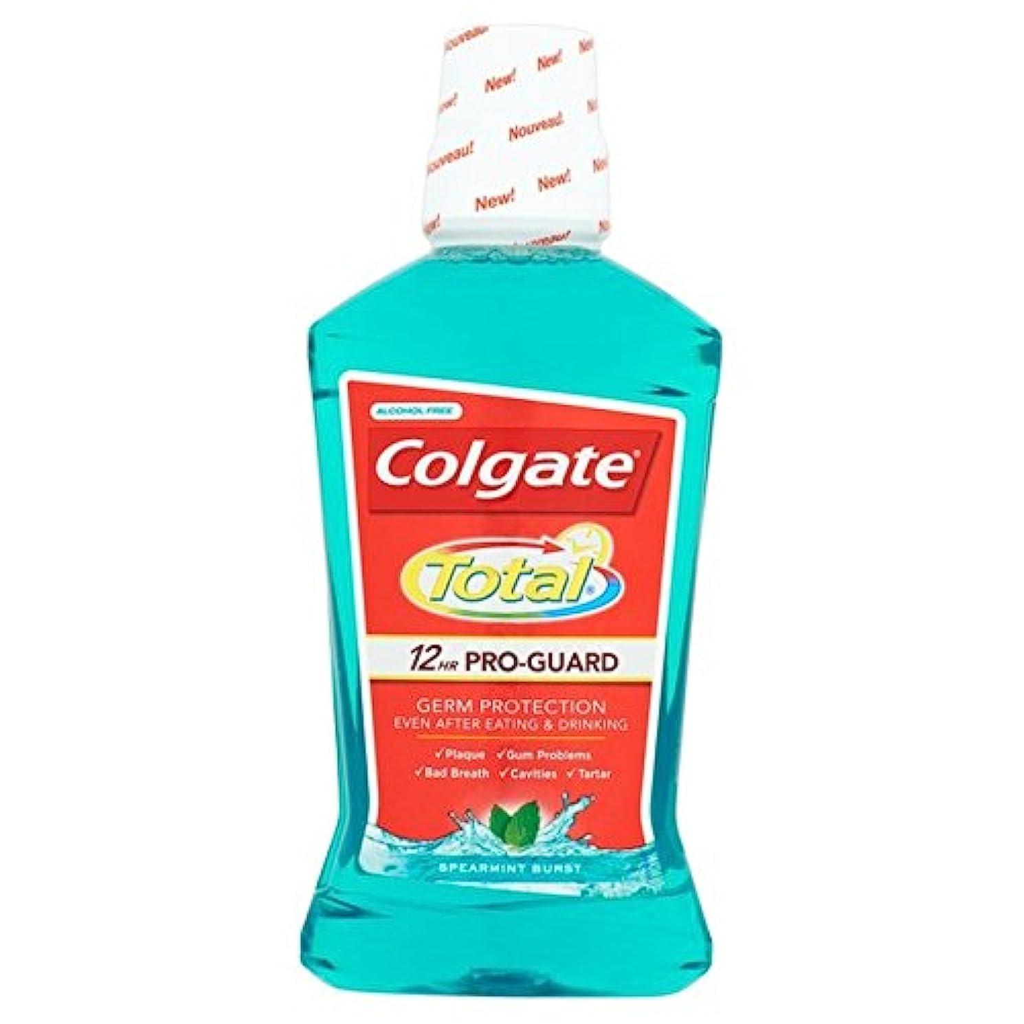 治世明快疾患コルゲートトータル先進的な緑色のマウスウォッシュ500ミリリットル500ミリリットル x4 - Colgate Total Advanced Green Mouthwash 500ml 500ml (Pack of 4)...