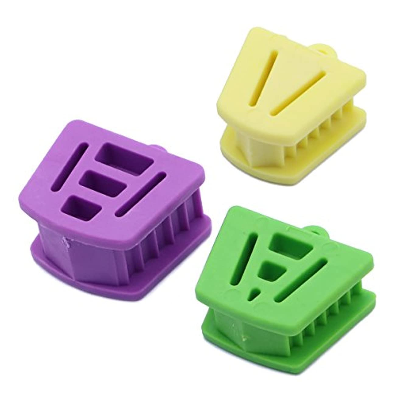 飽和する桃銀行Healifty 3個/パック口プロップバイトブロック歯科口腔内支持矯正用アクセサリー