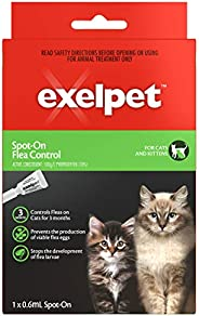 Exelpet Spot-On Cat And Kitten Flea Control, 0.6Ml