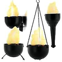 炎ランプパーティーLedかがり火ハロウィーン光電装飾ぶら下げ電子偽火デスクトップ燃焼トーチ手すり4で1
