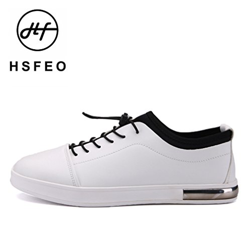 [QIFENGDIANZI]靴 メンズ モカシン ウォーキングシューズ カジュアルシューズ レースアップ クッション コンフォート 通気性 滑り止め 通勤  白 26.5cm
