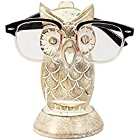 AMERINDIAN Spectacle Holder Wooden Eyeglass Stand Handmade Display Optical Glasses Accessories (Owl)