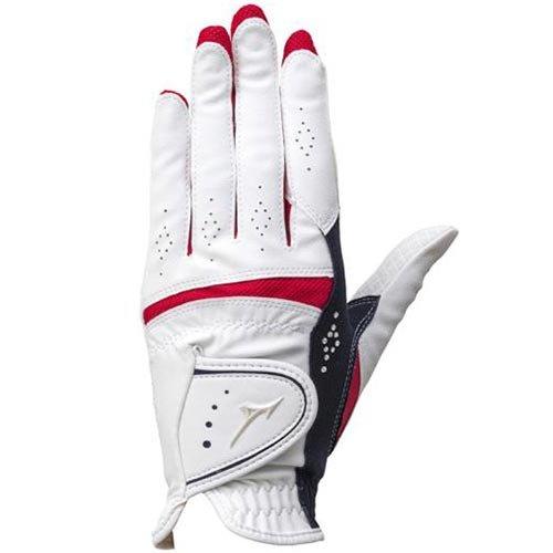 [ミズノ] ゴルフ グローブ レディース ダブルグリップ 両手組 ホワイト×ネイビー 5MJWB65114