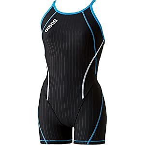 arena(アリーナ) 練習用 競泳水着 ガールズ ジュニア タフスーツ ミドルスパッツS FSA-6600WJ BKTQ R140サイズ