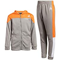 Reebok Boys' 2-Piece Athletic Fleece Tracksuit Set with Zip Up Jacket and Jog Pants (Toddler/Little/Big Boys)