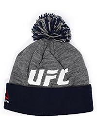(リーボック) REEBOK UFC 【POM CUFFED KNIT BEANIE/GREY-NAVY】 [並行輸入品]