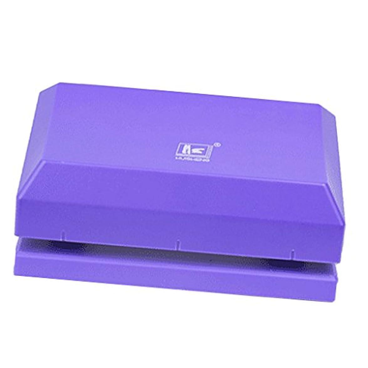 限りなくプレビュー物理的にPerfk 2穴あけ パンチ 紙クラフト 手動  穴あけ機 穿孔用 1?12枚容量 全2色  - 紫