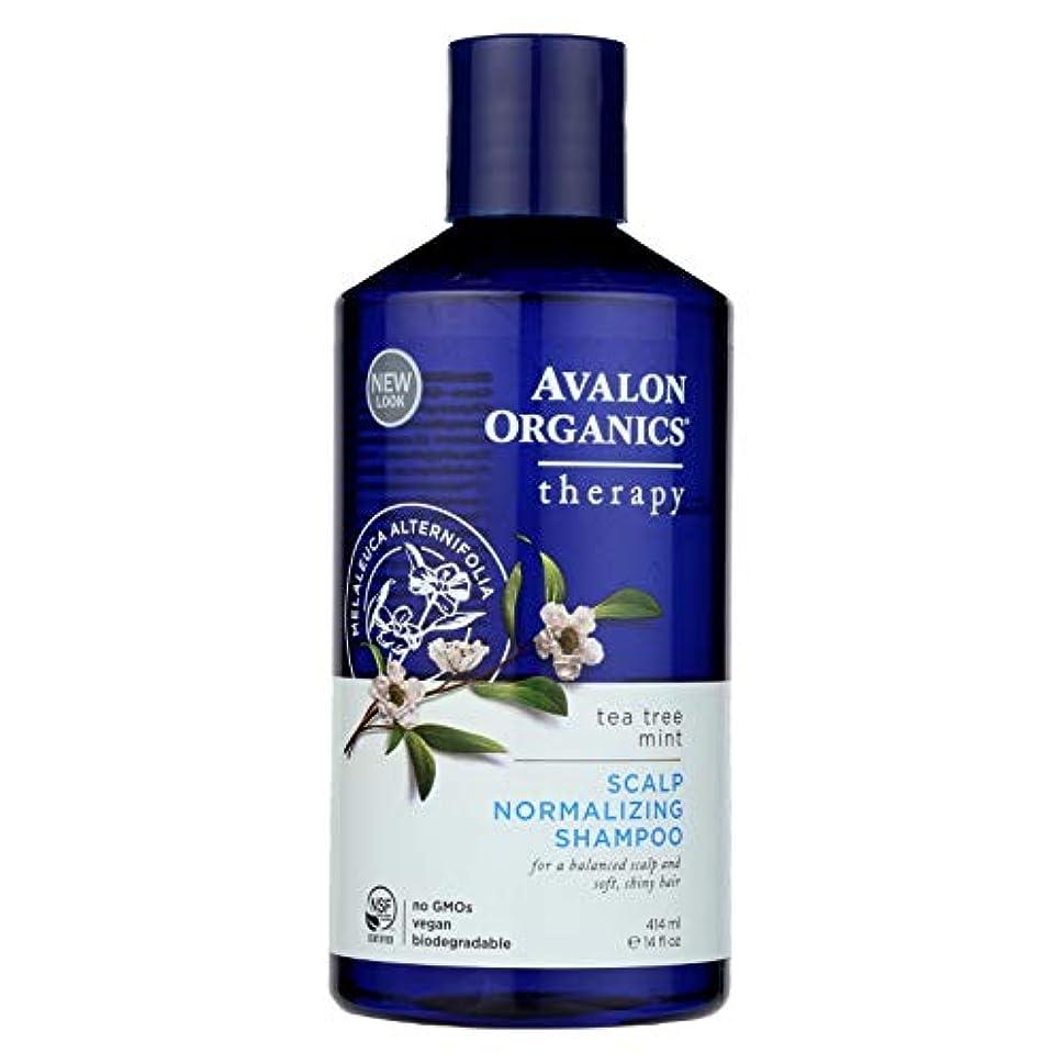 自分のためにサーカスデクリメントOrganics Scalp Normalizing Shampoo Tea Tree Mint Therapy - 14 fl oz by Avalon