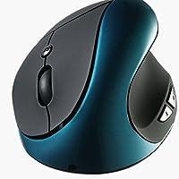 ワイヤレスマウス by Tsmine | エルゴノミクス Nano-USBレシーバー 2.4gh ウルトラ長持ち充電式 手首に優しい 自然なホールド コンパクト グリーン