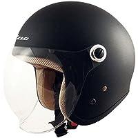 TNK工業 スピードピット ジェット型ヘルメット GS-6 マッドブラック サイズ:LADY'S FREE(57-58cm未満) 51197.0
