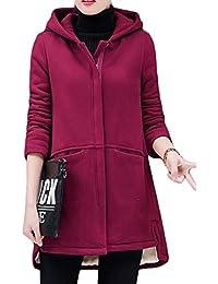 MLbossロングパーカー レディース 裏起毛 ゆる パーカー フード付き 裏ボアコート スリム ファッション アウター 韓国ファッション コート