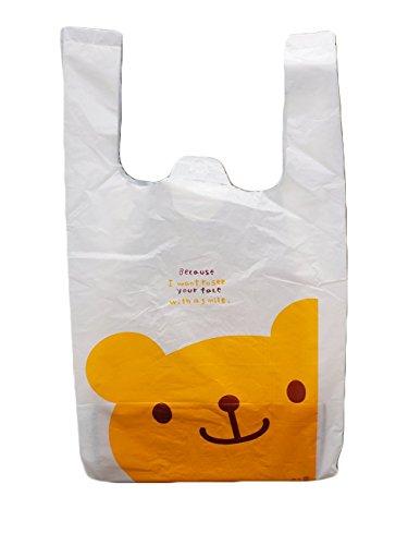 【plum forest】 レジ袋 100枚入り (くま SSサイズ 100枚)