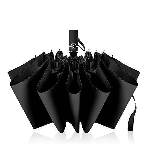 折りたたみ傘 Sondril ワンタッチ自動開閉 頑丈な10骨 メンズ傘 118cm Teflonc超撥水加工 210T高強度グラスファイバー 耐強風 収納ポーチ付き