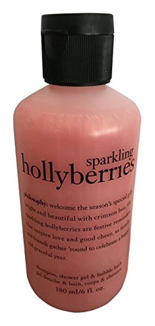 かんがい羊の思慮のないby Sparkling Holly Berries Shower Gel --6oz by Philosophy