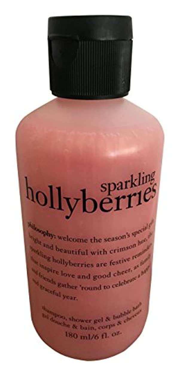 故意に激しい飾るby Sparkling Holly Berries Shower Gel --6oz by Philosophy