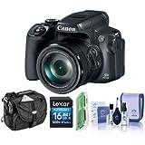 Canon PowerShot SX70 HS 20.3MP デジタルカメラ 65倍光学ズーム - 16GB SDHCカード カメラケース クリーニングキット カードリーダー付き