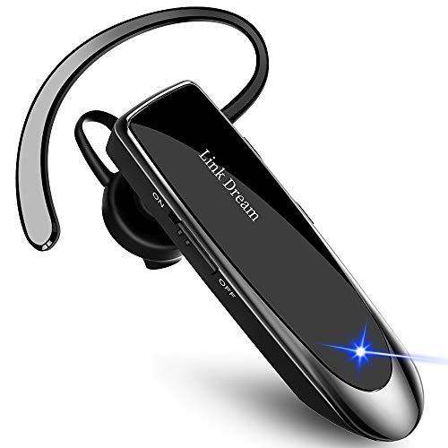 Bluetooth ワイヤレス ヘッドセット V4.1 片耳 高音質 日本語音声 マイク内蔵 ハンズフリー通話 日本技適マーク取得品 長持ちイヤホン IOS Android Windows対応 (黒)