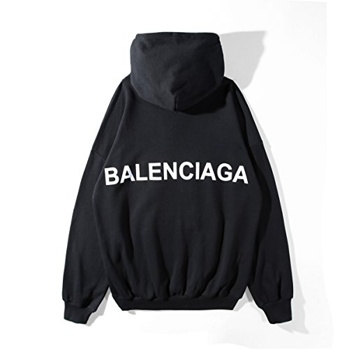 BALENCIAGA LOGO PULLEROVER PAKER バレンシアガ フード付きプールオーバーパーカー スウェット男女兼用 (L)