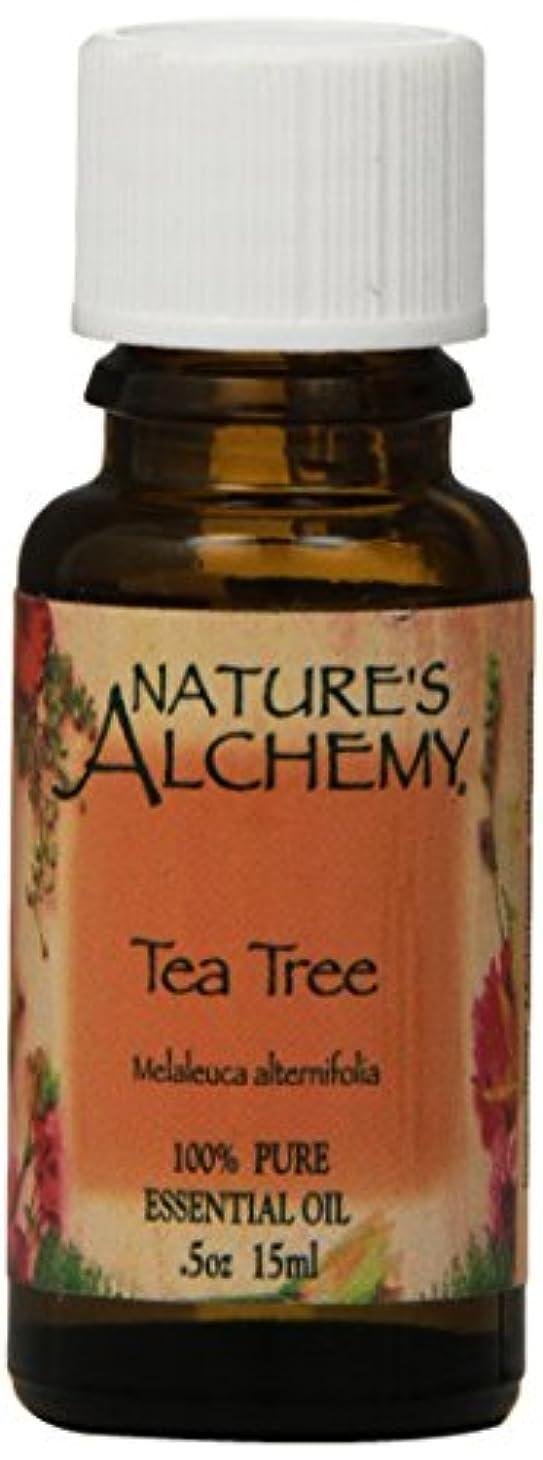 文房具チャンピオンシップ定期的な海外直送品Natures Alchemy Pure Essential Oil Tea Tree, 0.5 Oz