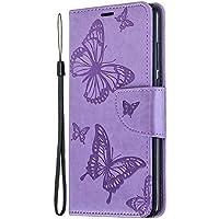 Lomogo Huawei P30 ケース 手帳型 耐衝撃 レザーケース 財布型 カードポケット スタンド機能 マグネット式 ファーウェイP30 手帳型ケース カバー 人気 - LOBFE140215 紫