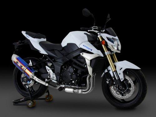 ヨシムラ(YOSHIMURA) バイクマフラー スリップオン R-77J サイクロン EXPORT SPEC 政府認証 STBS チタンブルーカバー/ステンレスエンド GSR750(13-:ABS国内仕様/11-:EU仕様/ABS車両適合) 110-158-5V80B バイク オートバイ