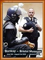 ポスター バンクシー banksy bristol museum poster 額装品 ウッドベーシックフレーム(オレンジ)