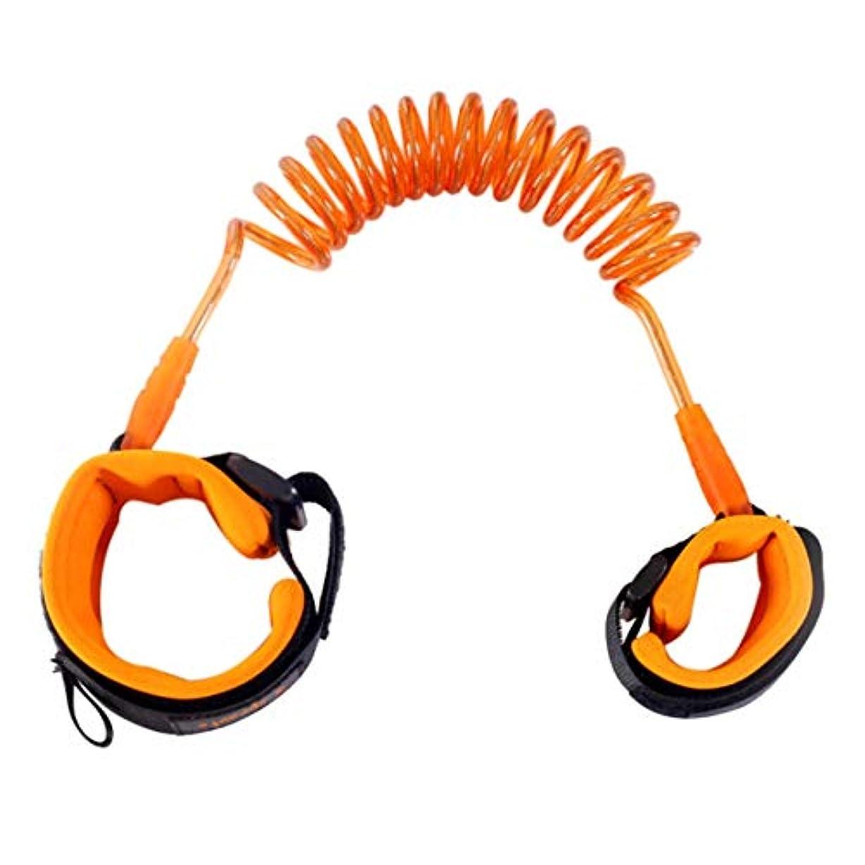 見物人刑務所パラメータ赤ちゃんの安全ウォーキングハーネスアンチロストストラップリストリーシュキッズトラクションロープ幼児アンチロストベルト子供安全アクセサリー-オレンジ