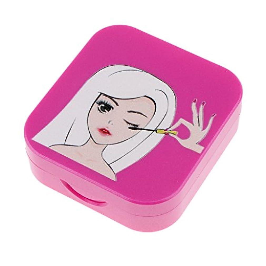 快適鰐推論Baosity まつげ収納ケース まつげ 付けまつげ 収納ボックス 便利 可愛い 全3色  - パープルレッド