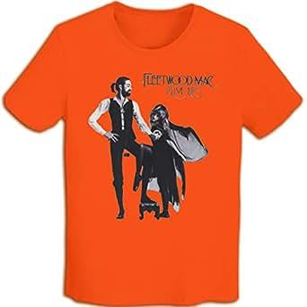メンズ Tシャツ 半袖 おしゃれ フリートウッド・マック Fleetwood Mac Rumours プリント スポーツ着 オレンジ S