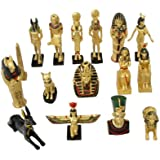 Everspring Imports 16のミニエジプトの彫像のエジプトの装飾セット
