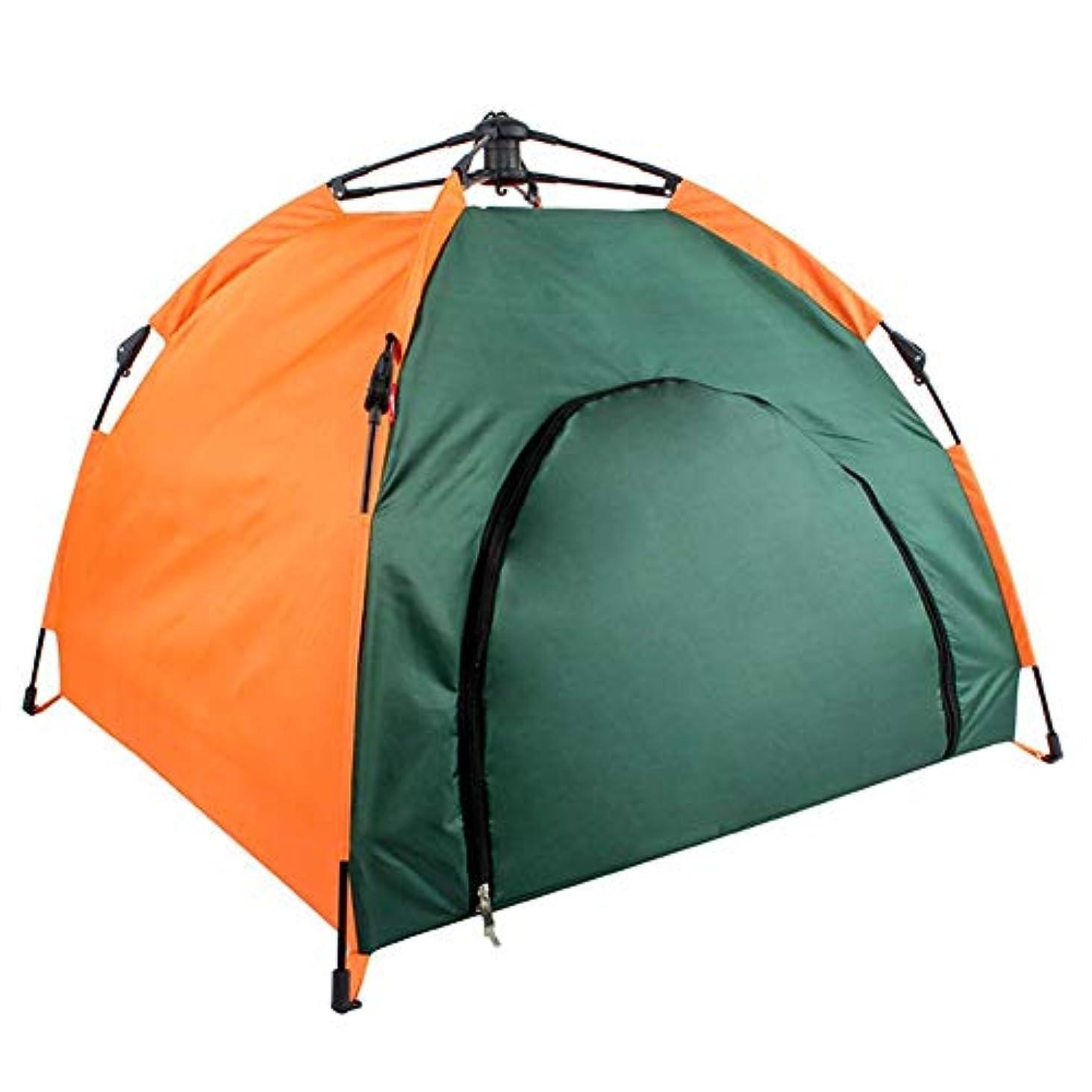 収束する規模窓Coinar ペット用テント 猫犬用小屋 折り畳み式 組み立て簡単 防水 防風 日よけ 軽量 室内 屋外 アウトドア キャンプに大活躍 クッション 付き 収納ポーチ付き