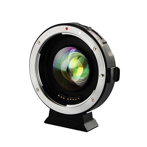 VILTROX EF-M2Ⅱ(二代目) 0.71 X スピードブースター AF キャノン Canon EFレンズ→マイクロフォーサーズ パナソニック GH/GXシリーズ オリンパス M43カメラに対応 絞り制御 手振れ補正 GH5 GH4 GF1 GX85 E-M5 E-M10 E-M10II E-PL3 PEN-F BMPCC BMPCC4K