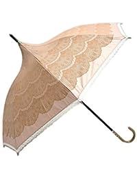 レディース グッズ 晴雨兼用 UVカット99%以上 おしゃれな パコダ型レース調プリント 47cm 手開き傘