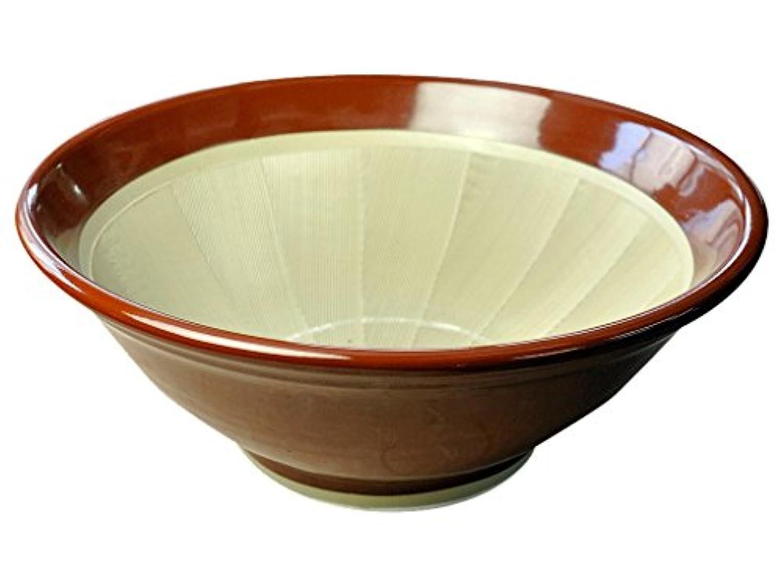 石見焼 すり鉢 4号 (直径12cm?すべり止め付) 赤茶色