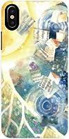 液晶全面保護 3Dガラスフィルム付 カラー:黒 iPhone X アイフォンX iphone x TPU ソフトケース 月の歌
