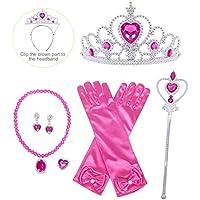 HenzWorld Princess Dress Up Jewelry Accessories Gloves Presents Kids Girls Halloween Cosplay 1-12 Years