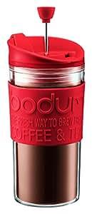 【正規品】 BODUM ボダム TRAVEL PRESS SET トラベルプレスセット 0.35L RED K11102-294