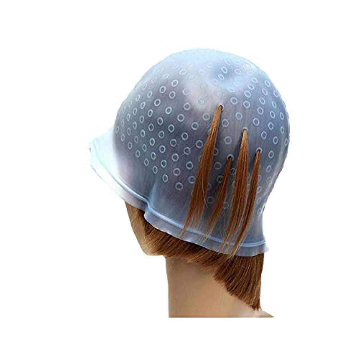予約二十マニュアルカラーリング メッシュ用 シリコンキャップ セルフカラー 髪の毛 穴あけ用のかぎ針付き 髪 レディース メンズ